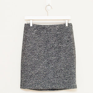 Ann Taylor Black & Gray Tweed Skirt 2